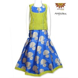 Top And Bottom Shivangi AA91BU Kids Brocade Lehenga, Size: 1-16 years
