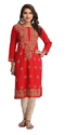 A188271 Lucknow Chikan Casual Cotton Kurta Kurti