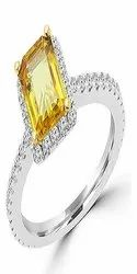 Yellow Sapphire 5.25 Carat Pukhraj Stone Unheated & Original Stone Ring