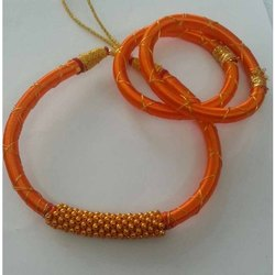 Silk Thread Necklace Bangle Set
