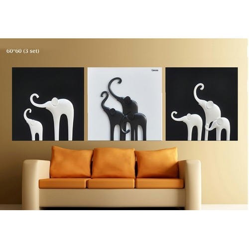 3d Elephant Wall Painting