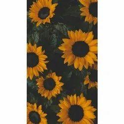 D Decor Matte Sunflower Printed Corian Paper Wallpaper