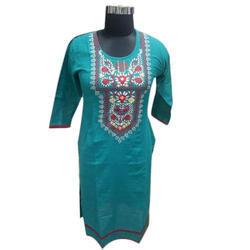 Ladies Casual Cotton Embroidered Kurti