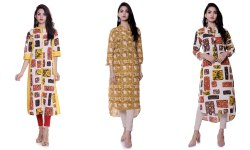 Ladies Cotton Long Kurti Top