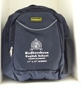 Blue Unisex School Backpack With 3 Compartment And 1 Side Mesh Pocket