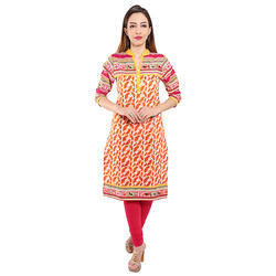 Cotton Casual Ladies Kurtis