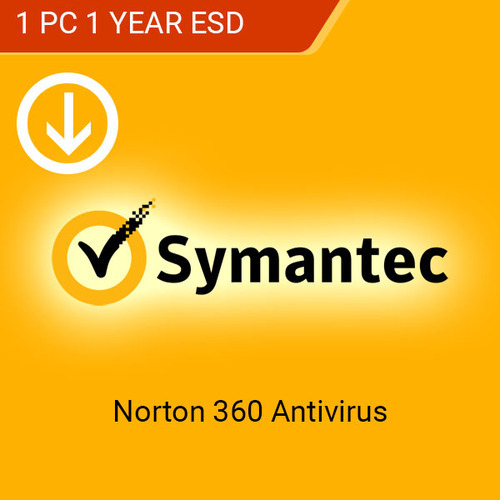 Norton 360 Antivirus 1 Year 1 Pc
