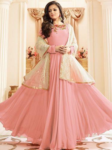 39c1a47c1f Designer Faux Georgette Latest Umbrella Cut Anarkali Salwar Suit at ...