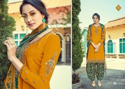 Tanishk Royal Silk Vol 10 French Crepe Designer Printed Embroidery Salwar Kameez