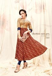 3/4th Sleeve Anarkali Dress