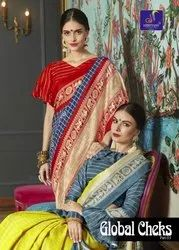 Designer Jute Saree, Length: 5.5 m (Separate Blouse Piece)
