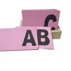 Sandpaper English Alphabet