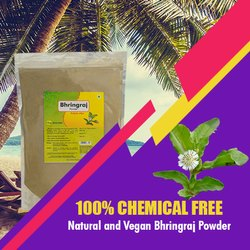 Ayurvedic Bhringraj Powder 1kg - Healthy & Shiny Hair for Personal, Pack Size: 1000 gms