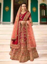 Silk Red Bridal Lehenga Choli