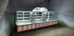 Curved Glass Cold Display Counter