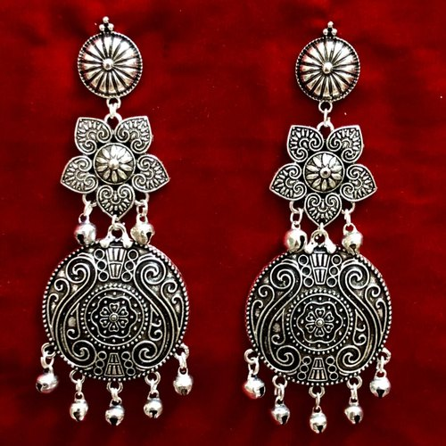 3a42c5481 German Silver Oxidized Earrings For Women, Rs 85 /pair | ID: 20544173212