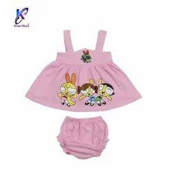 Baby Girl Sleeveless Mini Frock With Pant