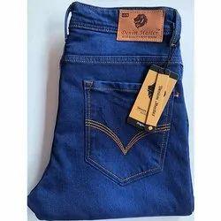 Denim Master Button Men Dark Blue Denim Jeans