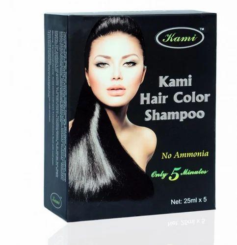 Kami Black Hair Dye Shampoo