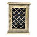 Wooden Key Holder Brass Jali Home Decor