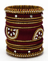 Maroon Silk Thread Bangle