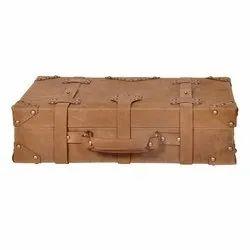 Plain SLC Leather Briefcase