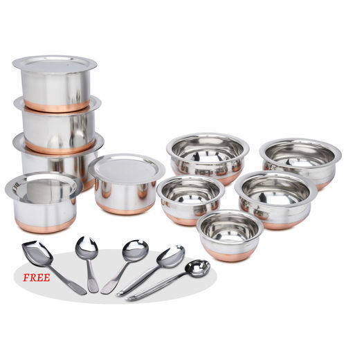 Copper Bottom Cookware Set, For Hotel/Restaurant