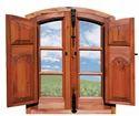 Full Panel Wooden Window Design