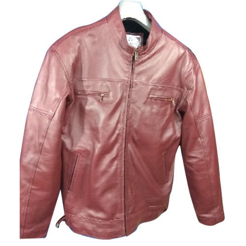 Small And Medium Men Cherry Color Leather Jacket Rs 3800 Piece