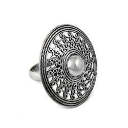 Solid 925 Sterling Silver Reticulated Ring Handmade