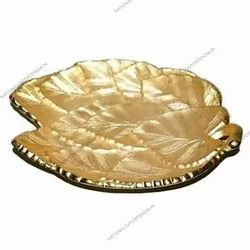 Gold Aluminium Serving Platter