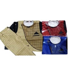 Cotton Casual Wear Kids Designer Baba Suit, 0-32