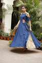 Cotton Double Layered Embroidery Party Kurti