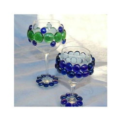 Blue And Green Decorating Drinking Glass