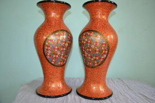 Multicolours And Paper Mache Flower Vase Rs 16999 Pair Fine Art