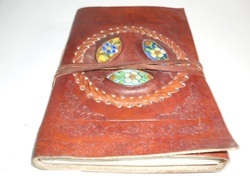 Leather Journal with Three Stone