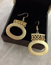 Unique Gold Plated Golden Earrings
