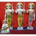Painted Marble Ram Darbar Statue