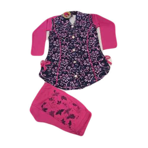 Cotton Kids Girls Floral Cloth Suit Set