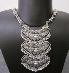 Triple Pendant Charm Necklace Chain Temple Jewelry