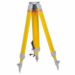 Wooden Tripod Yellow & Orange Tripod For Total Station, for Industrial