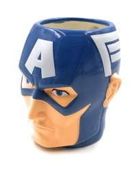 Ceramic Blue Fancy Captain America 3d Face Coffee Mugs, For Gifting