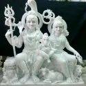 Marble Shiva Family Statue