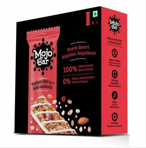 Mojo Bar MojoBar - Yoghurt Berry Anti-oxidants (6 Pack) Snack Bar, 210 Grams