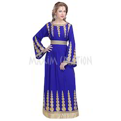 Royal Blue Wedding Gown Kaftan