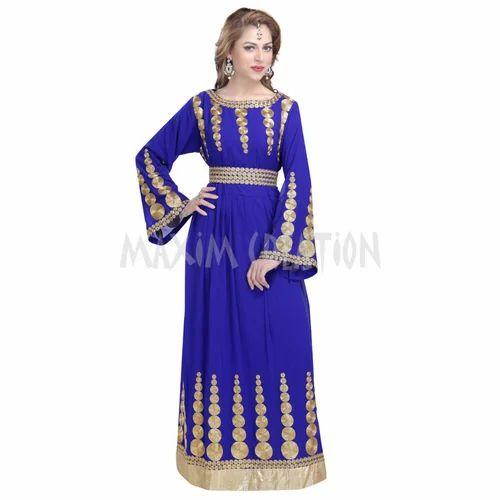 Royal Blue Wedding Gown Kaftan 6108