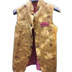 Mens Khadi Party Wear Nehru Jacket, Packaging Type: Packet
