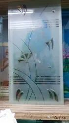 Multicolor Etching Designer Glass, for Home, Acid Etching, Crystal Etching