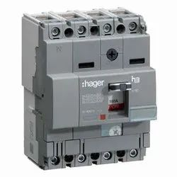 Hager 165A MCCB Thermal Magnetic Release Circuit Breaker