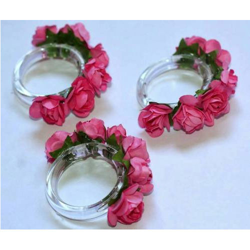 Plastic and artificial flowers napkin ring holder napkin challa plastic and artificial flowers napkin ring holder mightylinksfo